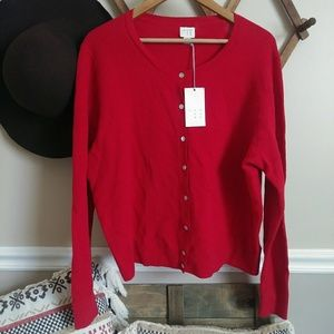 NWT A New Day red Cardigan